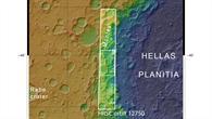 Topographische Übersichtskarte des Westrandes von Hellas