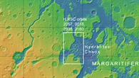 Topographische Übersichtskarte: Chaotische Gebiete und Ausflusstäler