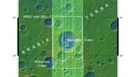 Topographische Übersichtkarte von Arabia Terra
