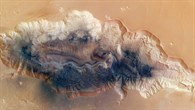 Draufsicht auf Hebes Chasma
