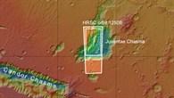 Der Talkessel Juventae Chasma im äquatorialen Marshochland