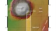 Topographische Übersichtskarte des Olympus Mons