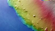 Topographische HRSC%2dBildkarte des Südostrands des Olympus Mons