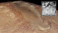 Einschlagsstruktur Orcus Patera auf Mariner 4%2dBild und HRSC%2dBild