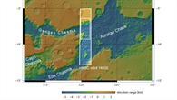 Topographische Karte der östlichen Ausläufer der Valles Marineris