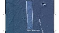 Topographische Übersichtskarte über einen Teil der Region Utopia Planitia auf dem Mars