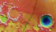Topographische Bildkarte der Region Cerberus Fossae
