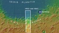 Topographische Übersichtskarte der Region Libya Montes