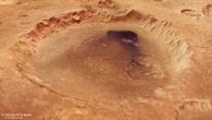 Perspektivische Ansicht des Kraters Neukum auf dem Mars