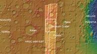 Topographische Übersichtskarte der Region Noachis Terra