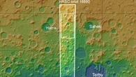 Topographische Übersichtskarte des Gebiets nördlich des Hellas%2dEinschlagsbeckens