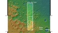 Topographische Übersicht der Nili Fossae auf dem Mars