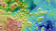 Topographische Bildkarte der Region nördlich der Nili Fossae