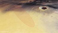 Blick von Nordwesten auf die Schiaparelli%2dLandeellipse