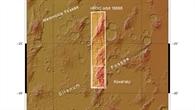Topographische Übersichtskarte des Gebiets um Sirenum Fossae