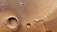 Blick auf die Flussmündung der Kasei%2dTäler auf dem Mars