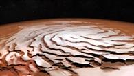 Taleinschnitte um den Nordpol des Mars