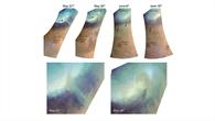 Drei Staubstürme auf dem Mars