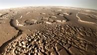 Die markante Landschaft von Hydraotes Chaos auf dem Mars
