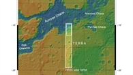 Topographische Karte von Margaritifer Terra und Aurorae Chaos