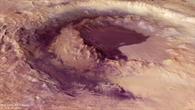Blick in den Krater Lowell auf dem Mars