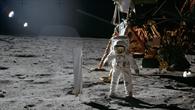 """Die erste """"Fahne"""" auf dem Mond"""