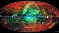 Rosat%2dAufnahme des gesamten Himmels im Röntgenlicht