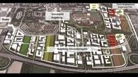 Luftaufnahme Augsburg %2d künstlerische Darstellung