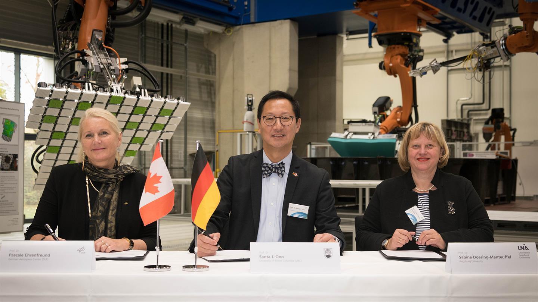 Leichtbau und Fabrik der Zukunft: DLR@UBC Kooperationsvertrag in Augsburg unterzeichnet