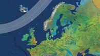 Der Weg der Sonnenfinsternis über den Nordatlantik