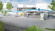 Tankstelle im städtisch geprägten Kreis