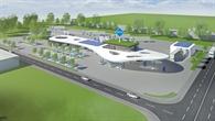 Tankstelle an der Autobahn