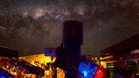 Aufnahme des Teleskops mit Langzeitbelichtung