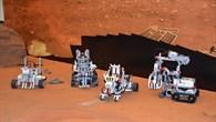 Mini%2dRover auf der Marsoberfläche
