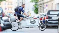 Mit dem eLastenrad auf Kurierfahrt durch die Innenstadt