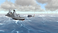 Schiffsdecklandung bei schlechten Wetterbedingungen
