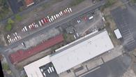 Luftbild des Bereitstellungsraums
