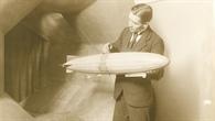 Zeppelin%2dModell im Windkanal