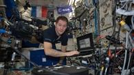 Thomas Pesquet im Columbus%2dModul der ISS