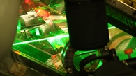 Laser während der Messung