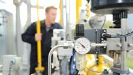 Analoge Anzeige der Erdgasregelung