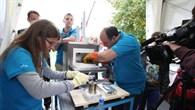 Vorbereitung der Klebefläche