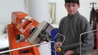Arm eines Industrieroboters.