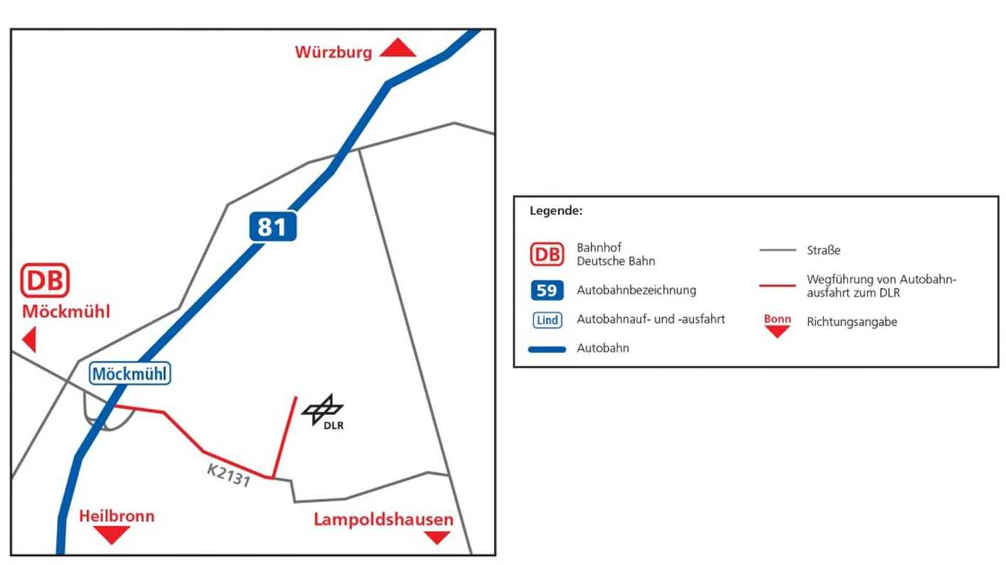 Anfahrt Lampoldshausen