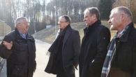 Andreas Stoch informiert sich über den DLR%2dStandort Lampoldshausen