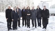 Staatssekretärin Schütz und Staatsrat Siering zu Besuch beim DLR Lampoldshausen