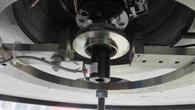 3D%2dgedruckter Titan%2d6%2dAluminium%2d4%2dVanadium%2dImpeller in der Schleudertestvorrichtung