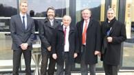 Politiker-Besuch vor dem DLR-Forum