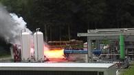 Vinci-Brennkammer während eines Heißlaufs