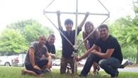 Bau einer Antenne im Summer Camp
